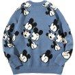 画像3:  men's and women's Mickey Mouse Print Casual Crew Neck Sweater  オーバーサイズ ユニセックス 男女兼用ミッキーマウスプリントカジュアルクルーネックセーター (3)