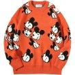 画像2:  men's and women's Mickey Mouse Print Casual Crew Neck Sweater  オーバーサイズ ユニセックス 男女兼用ミッキーマウスプリントカジュアルクルーネックセーター (2)