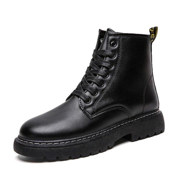 画像1:  Men's High Top Martin Boots British Style boots レースアップハイカットブーツ (1)