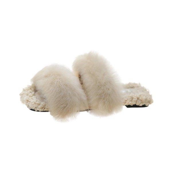 画像1: Women flat bottom far Sandals slippers フラットファースリッパ サンダル (1)