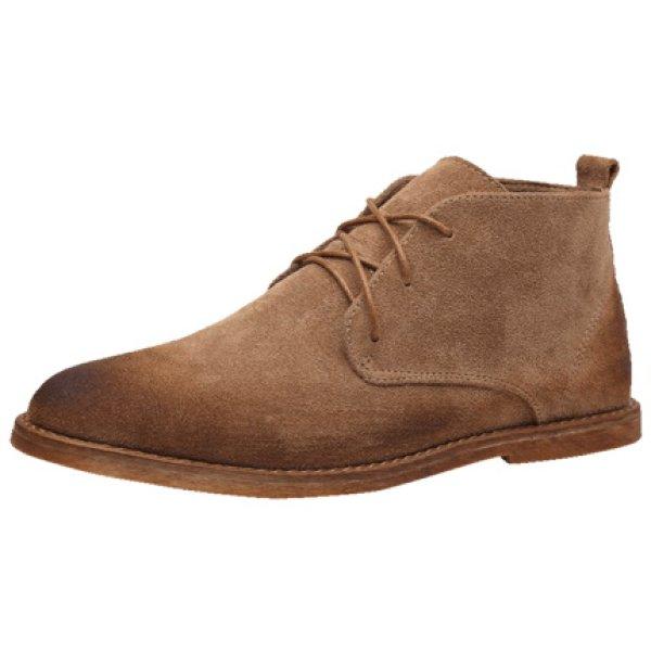 画像1:  men's leather  short boots Desert boots メンズ ブリティッシュレースアップデザートブーツ スエード  (1)