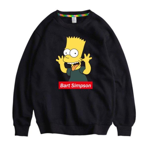 画像1: Unisex Simpson Simpsons Boxlogo Print Sweat Pullover 男女兼用 ラウンドネック シンプソン シンプソンズ ボックスロゴプリント スウェット トレーナー プルオーバー (1)