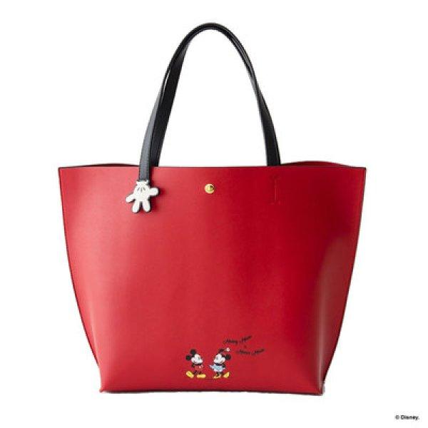 画像1: Mickey Minnie large-capacity one-shoulder handbag Tote Bag  ミッキー&ミニー ペイント トートショルダーショッピングバッグ (1)