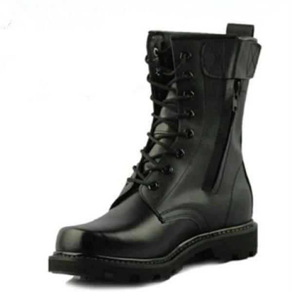 画像1: British high-top Lace up boots shoes メンズ イギリス調 ブリティッシュ ハイカット レザーレースアップブーツ 男女兼用 (1)
