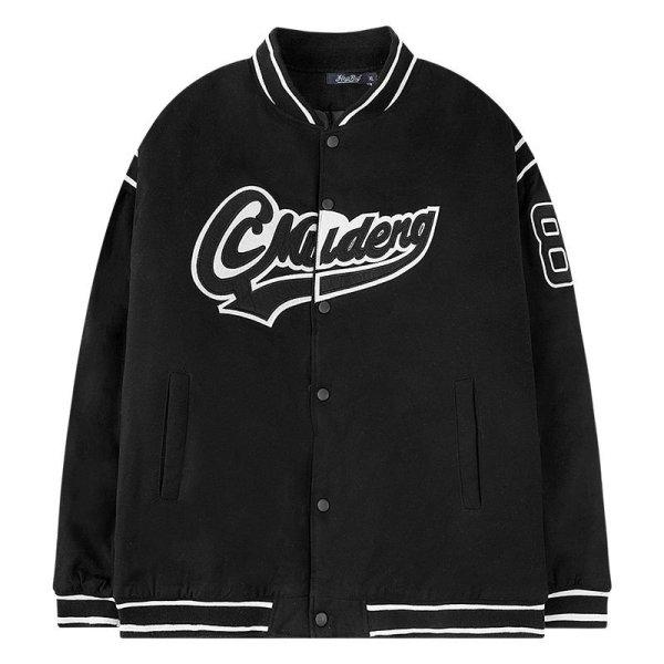画像1: hip-hop tooling bread cottonStadium jumper jacket men and womenユニセックス 男女兼用スタジアムジャンバージャケット ブルゾン (1)