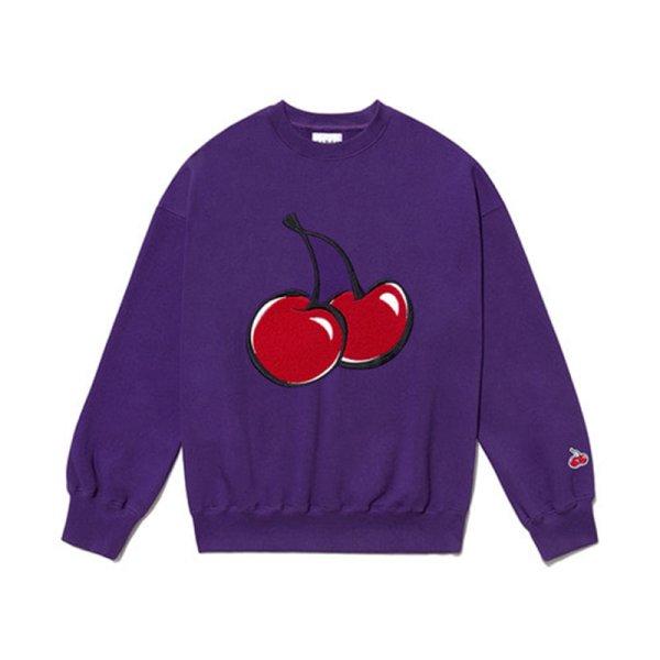 画像1: Big cherry sweater sweatshirt  男女兼用ユニセックスビックチェリースウェットトレーナー (1)