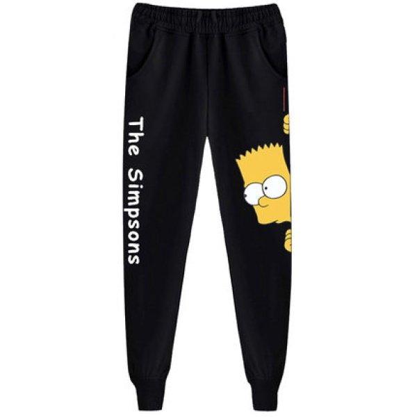 画像1: The Simpson Simpsons Long Sweat Pants ユニセックス男女兼用 ザ・シンプソンズ  シンプソン スウェット ジョガーパンツ  (1)