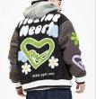 画像7:  hee love series embroidery baseball uniform jacket jacket men and women Stadium jumper  ユニセックス 男女兼用グラフィックペイント刺繍ユニフォームスタジアムジャンパー ジャケット ブルゾン スタジャン (7)