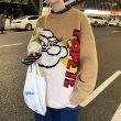 画像5: Popeye vintage print pullover Loose Sweater  ポパイ ヴィンテージ風 ルーズ  セーター 男女兼用 ユニセックス (5)