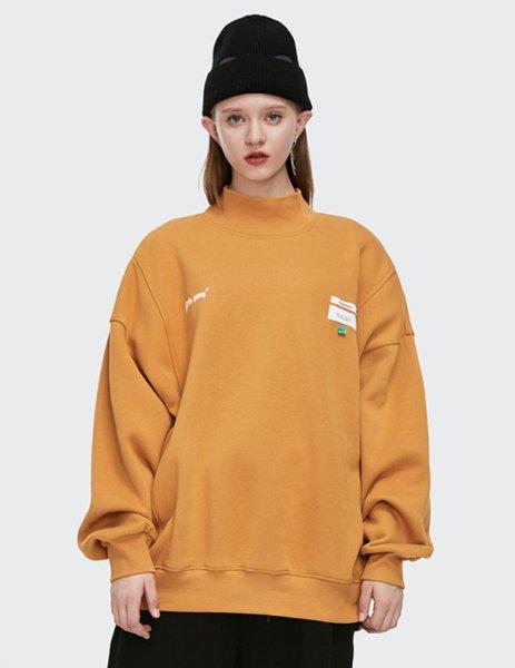 画像1: Inflation Nothing is impossible Reversible high‐necked Sweatshirts メンズ ユニセックス 男女兼用 リバーシブル ハイネック スウェット トレーナー (1)
