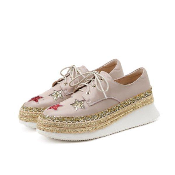 画像1: Women's Leather platform single  fisherman ELYSE shoes  Sneakers  レースアップ本革厚底フィッシャーマンズシューズ スニーカー (1)
