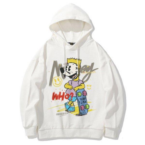 画像1: Unisex  Spoof Mickey Mouse mask splash ink graffitihoodie 男女兼用スプーフィングミッキーマウス&スポンジボブスプーフィング フーディスウェット  パーカー (1)