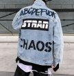 画像6:  graffiti print hip-hop denim jacket G Jean Jacket blouson ユニセックス 男女兼用 グラフィックペイントヒップホップデニムGジャケット ブルゾン (6)