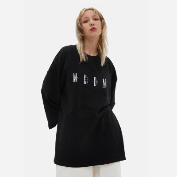画像1: 21SS M.E.D.M MEDM logo cotton long sleeve t-shirts ユニセックス 男女兼用 ロゴ ロングスリーブ Tシャツ (1)