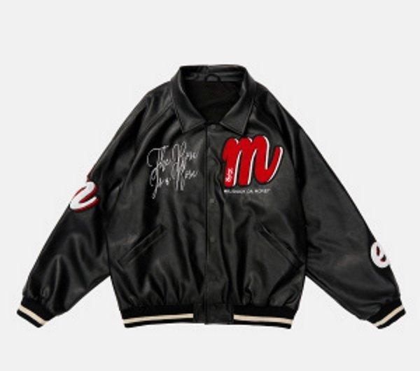 画像1: 21SS M.E.D.M MEDM BASEBALL JACKET Stadium uniform jacket blouson ユニセックス 男女兼用  Mロゴ スタジアムジャンパー スタジャン MA-1 ボンバー ジャケット ブルゾン (1)