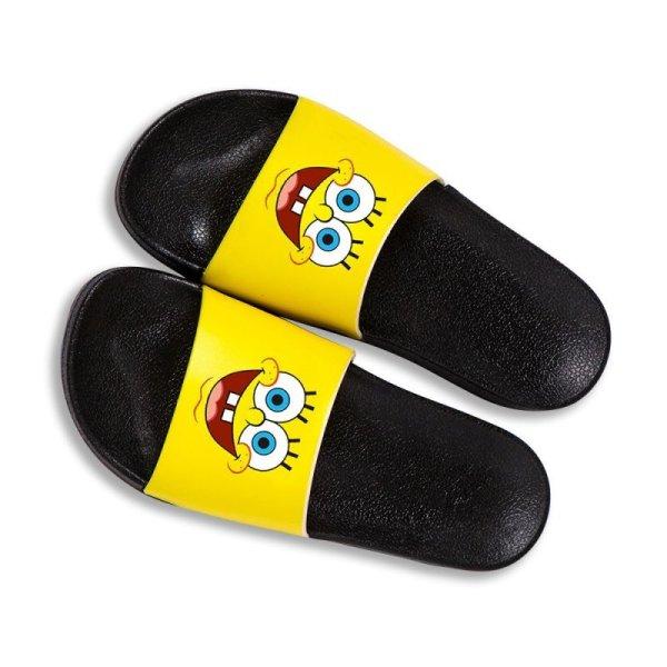 画像1: Sponge Bob Yellow slippers flip flops soft bottom sandals slippers  スポンジボブ プラットフォーム フリップフロップ サンダルシャワーサンダル ビーチサンダル ユニセックス男女兼用 (1)