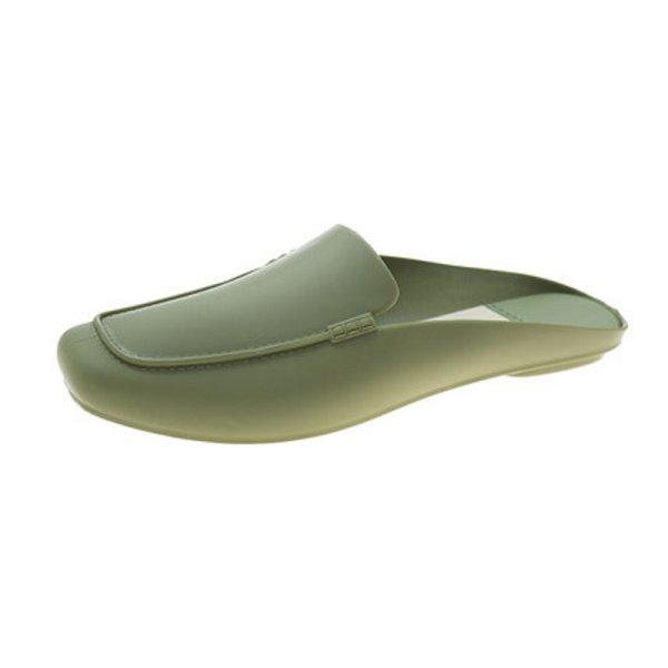 画像1:  leather half-drag flat shoes  ハーフフラットパンプス ミュール スリッパ (1)