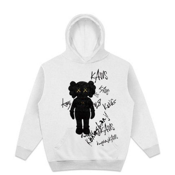 画像1: Unisex Doodle Cowes Paint Hoody sweater  男女兼用カウズ落書きペイントスウェットフーディ パーカープルオーバー  (1)