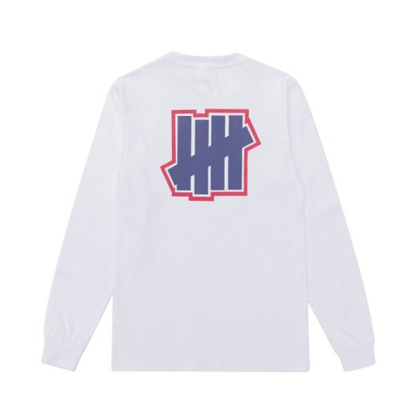 画像1: Unisex five-way  printing round neck long-sleeved t-shirt sweater 男女兼用fファイブ バー プリント ロングスリーブTシャツ (1)