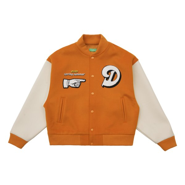 画像1: women men FFFMaSiwei trendy  baseball uniform jacket blouson ユニセックス 男女兼用 レザーバイブスタイルスタジアムジャンパー スタジャン MA-1 ボンバー ジャケット ブルゾン (1)