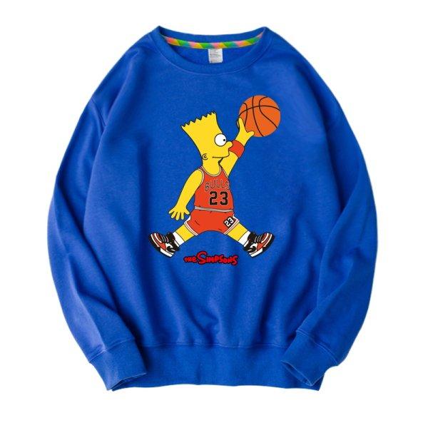 画像1:  Simpson basketball paint Pullover sweater  バスケットユニセックス 男女兼用シンプソンバスケットプリントスウェット トレーナ (1)