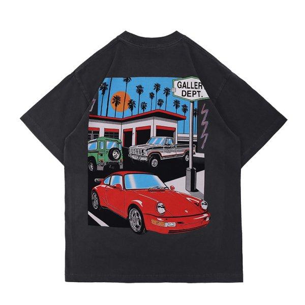 画像1: Unisex Gallery Dept Drive Thru T-shirt   男女兼用ドライブスルーダメージ半袖Tシャツ (1)