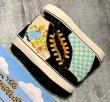 画像4: Unisex The Simpsons graffiti lace-up High cut sneakers  ユニセックス男女兼用ハイカットシンプソンレースアップ スニーカー (4)