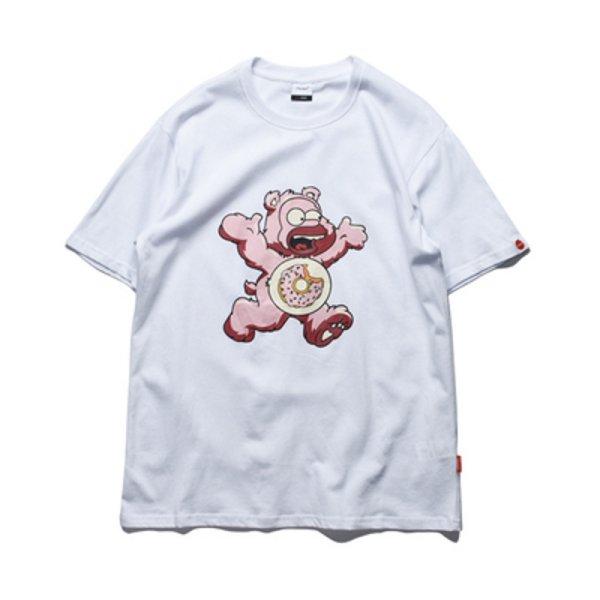 画像1: Unisex Spoofing bear Homer Simpson short-sleeved T-shirt  男女兼用  ユニセックス なりすましホーマーシンプソン×ベア クマ 半袖Tシャツ (1)