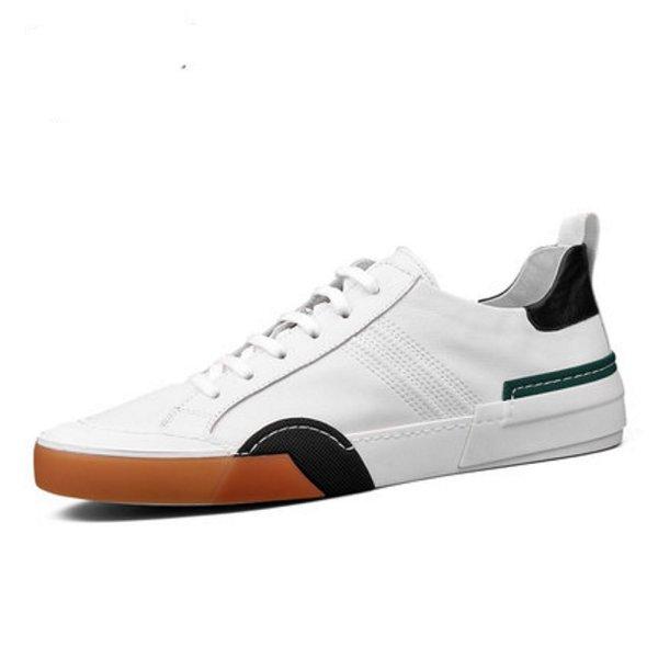 画像1: Genuine leather lace-up sneakers  レースアップ 本革レザースニーカー (1)