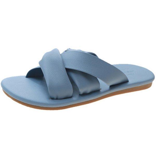 画像1: Flat leather sandals  slippers shoes   フラットレザーサンダル  スリッパ シューズ  (1)