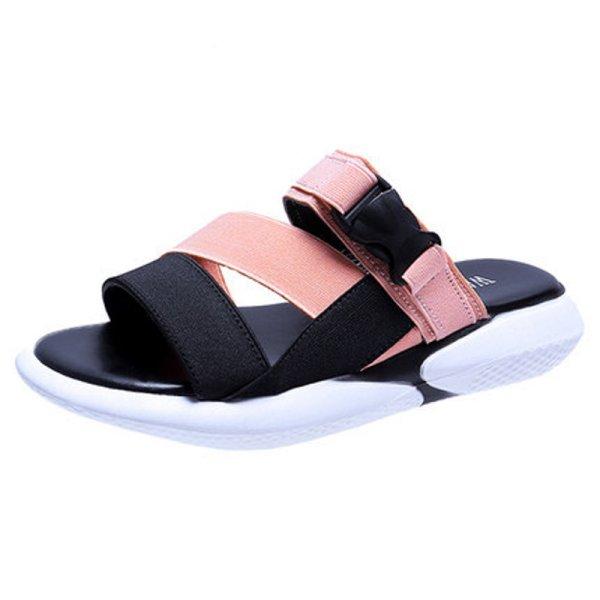 画像1: Flat sneaker sole sandals slippers shoes   フラットスニーカーソール サンダル  スリッパ シューズ  (1)