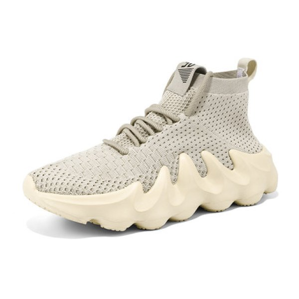 画像1: Men's All white coconut 4500 tide shoes lace up Trainer sneakers casual shoes ユニセックス男女兼用レースアップオールホワイトスニーカー カジュアル シューズ (1)