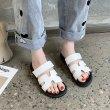 画像5: thick bottom Velcro sandals and slippers  shoes   Hマークレザーベルクロサンダル スリッパ サンダル  シューズ  (5)