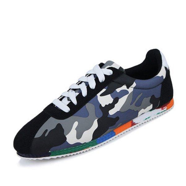 画像1: Men's men's camouflage lace up sneakers casual shoes カモフラージュ 迷彩レースアップスニーカー カジュアル シューズ (1)