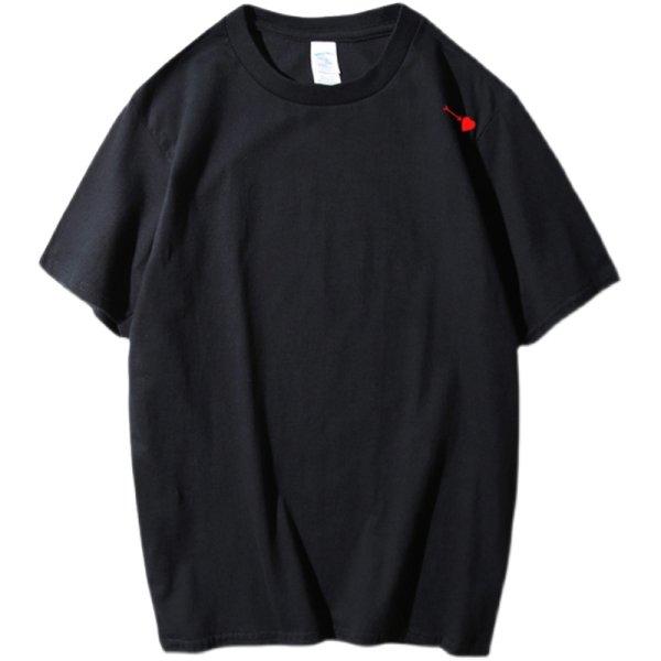 画像1: Heart & arrow print Short SleeT Shirt  ハート&アロープリント Tシャツ ユニセックス男女兼用 (1)