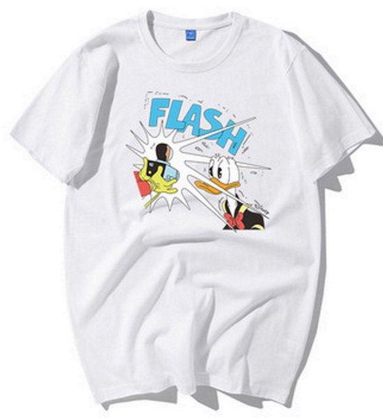 画像1: FLASH Donald Duck print Short SleeT Shirt FLASHドナルドダック プリント Tシャツ ユニセックス男女兼用 (1)