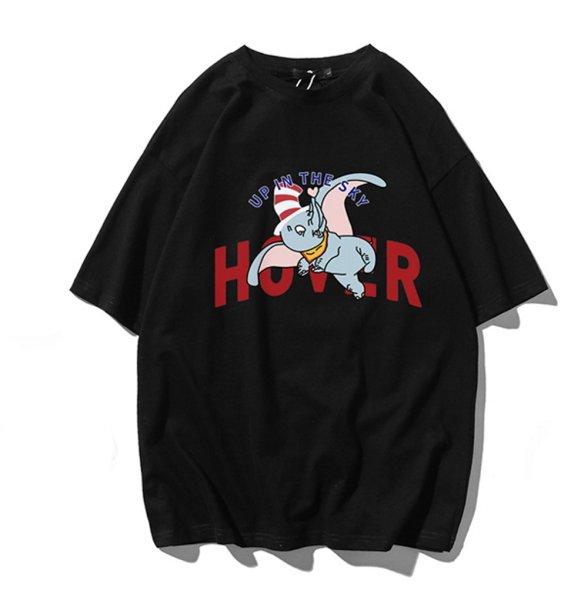 画像1: Unisex Love Elephant DumboT-shirt ユニセックス 男女兼用 ラブリーダンボプリント 半袖 Tシャツ (1)