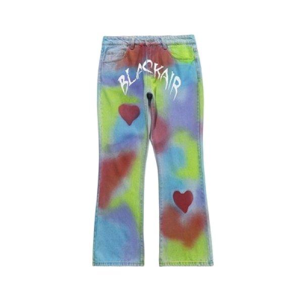画像1: ]AWE GOD Graffiti Handpaint Denim Pants Jeans グラフィティ ハンドペイント カスタム デニムパンツ ジーンズ (1)