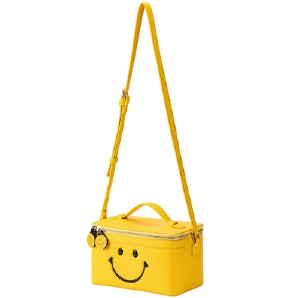 画像1: Smile vanity bag スマイリー スマイル ニコちゃん バニティバッグ スクエアバッグ ポシェット ショルダーバッグ (1)