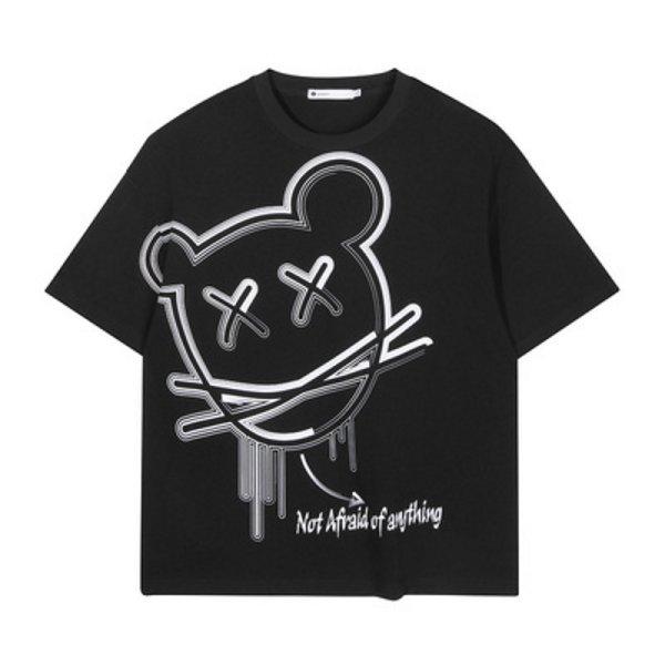 画像1: Unisex KAWS x Mouse Short Sleeve T-shirt 男女兼用 ユニセックスカウズ×マウスプリントTシャツ (1)