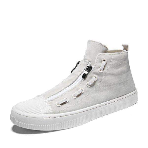 画像1: Men's Fastener Zip minimal sneakers Sneakers メンズ ファスナー ミニマル スニーカースニーカー  (1)