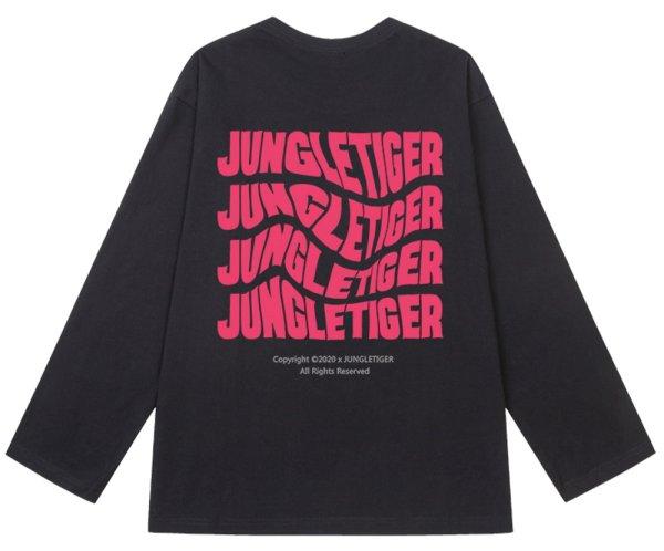 画像1: Jungle Tiger Letter Print Long Sleeve T-shirt unisex 男女兼用 ユニセックス ジャングルタイガーロゴプリント長袖 Tシャツ (1)