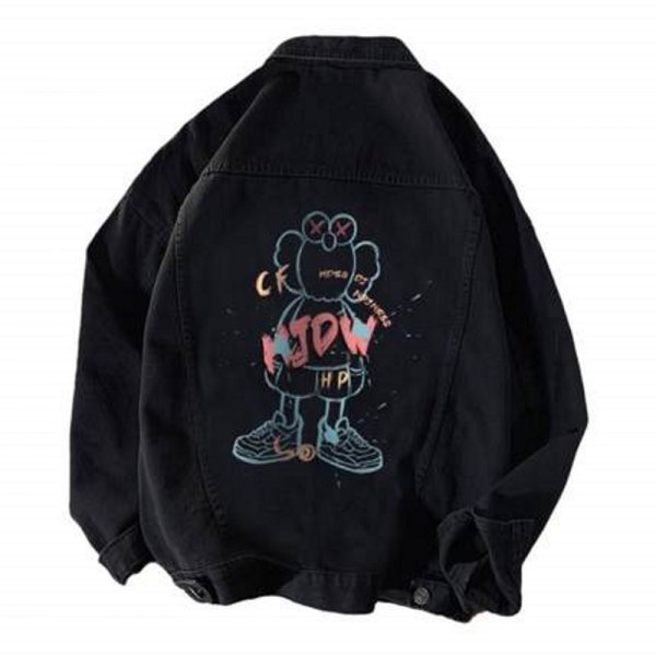 画像1: kaws Denim Jacket  G Jean Jacket ユニセッ クス男女兼用 カウズデニムGジャン ジャケット (1)