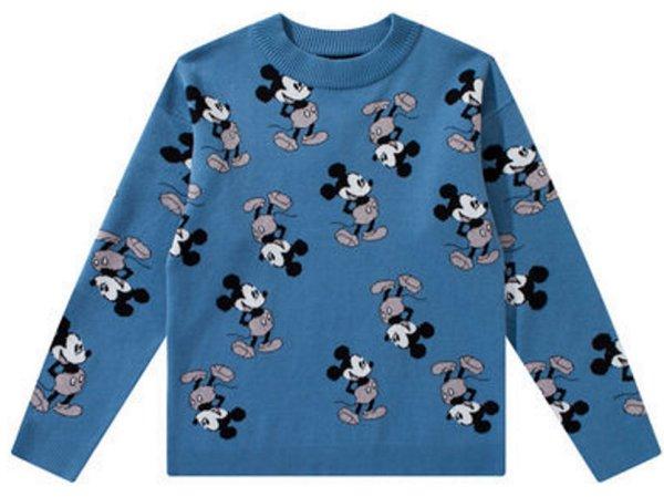 画像1: Unisex Mickey Mouse Braided Pullover Sweater 男女兼用 ユニセックスミッキーマウス ミッキー編み込みプルオーバーセーター (1)