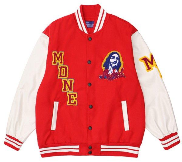 画像1: Jesus Christ Emblem BASEBALL JACKET baseball uniform jacket blouson ユニセックス 男女兼用ヒップホップジーザスエンブレム スタジアムジャンパー スタジャン MA-1 ボンバー ジャケット ブルゾン (1)