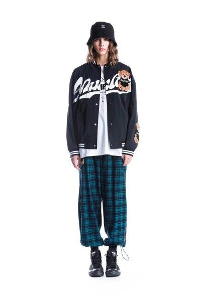 画像1: 21 MWM Bear BASEBALL JACKET baseball uniform jacket Varsity Jackets Letterman blouson テディベア ベア 熊 刺繍 スタジアムジャンパー スタジャン MA-1 ボンバー ジャケット ブルゾン (1)