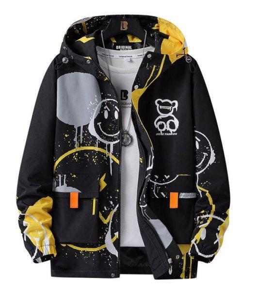 画像1: Smile & Bear Windbreaker Coat ユニセックス 男女兼用 スマイル&ベア ウインドブレーカー コート (1)