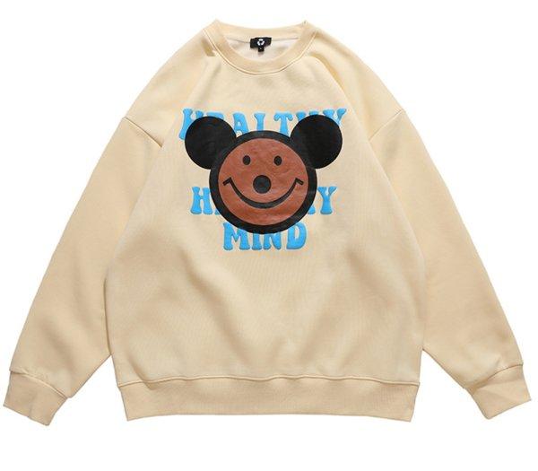画像1: Unisex  Smile bear sweater 男女兼用 ユニセックス スマイルベアスウェットセーター (1)