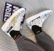 画像5: kaws paint leather sneakers high-top Low cut sneakers カウズハイカット&ローカットレザーペイント レースアッープ スニーカー (5)