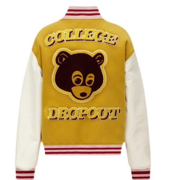 画像1: Casual Bear BASEBALL JACKET baseball uniform jacket blouson  ユニセックス 男女兼用 ベア 熊 刺繍 エンブレム  ヒップホップ スタジアムジャンパー スタジャン MA-1 ボンバー ジャケット ブルゾン (1)